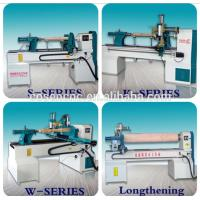 China COSEN CNC  control system wood turning machine with centering set for wood, artificial stone, resin on sale
