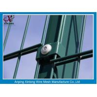 Quality Green Color PVC Coated Double Wire Fence 200*50mm Dark Convenient Installation for sale