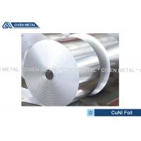 Buy Thermal Stability CuNi44 Copper Nickel Alloy Foils FOR marine equipment at wholesale prices
