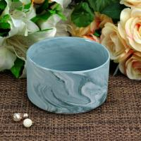 Quality Handmade Marble Candle Container / candle holders large Recyclable for sale