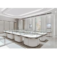 Quality Jewelry Cases For Stores - Fashion Modern Matte White Glass Jewelry Showcase for sale