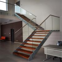 Quality Modern house staircase design with double stringers design for sale
