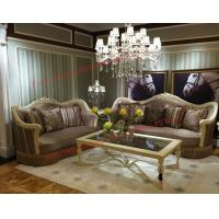 Quality Luxury Design and Romantic Sofa set made by Wooden Carving Frame with Fabric Upholstery for sale