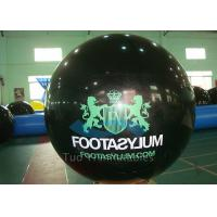 Quality Custom Printed Helium Balloons Black Helium Spheres With Logo for sale
