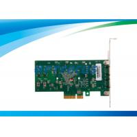 Buy cheap PC Fiber Network Card Dual Port Ethernet Intel 82571EB Intelligent Offloads from wholesalers