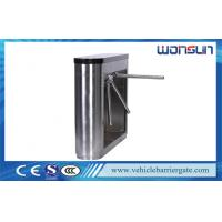 Quality Stainless Steel Semi Auto Half Height Tripod Turnstile Gate Entrance Gate Security Systems for sale