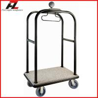 China Hotel Heavy Duty Luggage Trolley in Black Gold/Stainless Steel Belman Luggage Trolley on sale