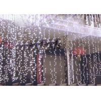 Quality 110 Volt LED Curtain Lights , 6x3m Outdoor Wedding Curtain String Lights for sale