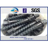 Quality Customized 35# 45# Railroad Screw Spike For Railway Fastening System Construction for sale