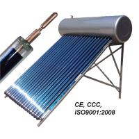 China stainless steel heat pipe pressurized solar water heater on sale