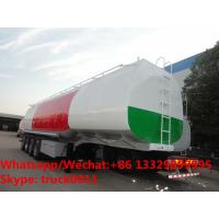 Quality 4 Axles Semi Trailer Steel Fuel Tanker Manufacturers With BPW Axles, CLW brand 4 axles 35m3-70m3 oil tank semitrailer for sale