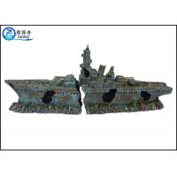 Quality Ship Model Poly resin Ornaments Cool Fish Tank Decorations For Aquarium for sale