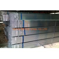 Quality DIN1626 Pre Galvanized Steel Pipe , Q195 / Q235 Hollow Section Square Tubing for sale