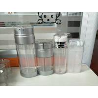 Quality cosmetic airless dual silver lotion pump bottle 20ml 30ml 60ml dual pump airless bottle, double pump for sale