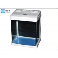 Buy White Luxury Mini Glass Aquarium Tanks Aquarium LED Light For Home at wholesale prices