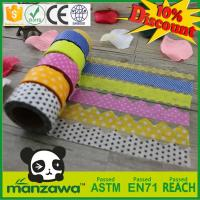 China custom high quality rice paper tape washy paper tape with die cut shape on sale