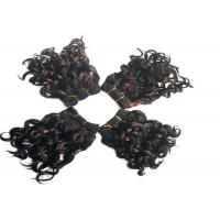 "Quality Short 8"" Black Synthetic Hair Extensions Highlight With High Temperature Fiber for sale"