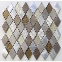 Quality Diamond Shaped Backsplash Mosaic Glass Tile Sheets , Mosaic Glass Wall Tiles For Kitchen for sale