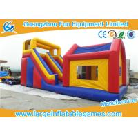 China Durable Commercial Inflatable Slide With House / Outdoor Inflatable Kids Slide With Professional Design on sale