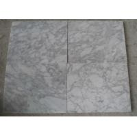 Quality Polished White Carrara Marble Tile Slabs , Outdoor Floor Marble Garden Tiles for sale