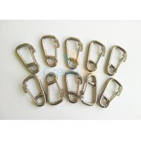 Quality Stainless Steel 304 / 316 Snap Carabiner Hook 6*60MM With Eye and Lock Hardware for sale