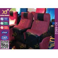 ISO Certification Padding Armrest Folding Theater Seats With Flame Retardant Fabric