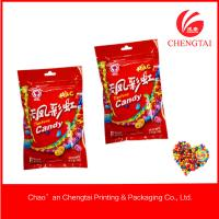 Quality Resealable 90 G Red Color Three Side Sealed Bag With Zipper Top For Fruit Candy for sale