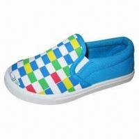 Buy cheap Children's Injected Shoe with Cloth Lining, PVC Outsole and Canvas Upper from wholesalers