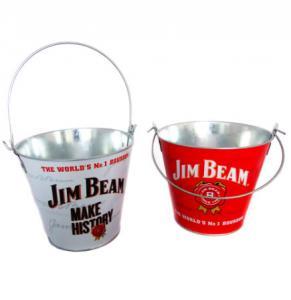 China Durable Galvanized Metal Buckets Mini galvanized metal beer cooler ice bucket  with handles on sale