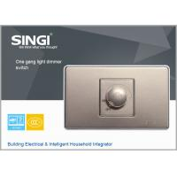Quality Golden champagne 1 gang dimmer switch electric light switchwith the most competitive price for sale
