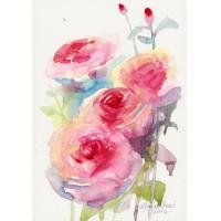 Quality flower painting room wall decoration for sale