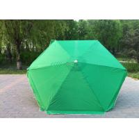 Quality Waterproof Green Round Beach Umbrella Uv Protection For Various Occasions for sale