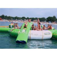 Quality Inflatable water park games , inflatable water trampline with slide tubes for sale