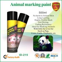 Quality Heat resistant spray animal marking paint with green / violet ink colors for sale