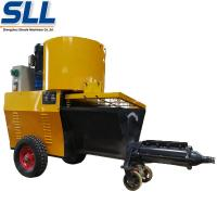 Quality Automatic Exterior Wall Plastering Machine Cement Rendering Machine In Yellow for sale