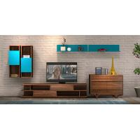 Quality 2017 New Living room Furniture TV Wall Unit Floor stand Hang cabinet in MDF melamine with High glossy panel for sale