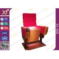 Quality Modern Folded Commercial Auditorium Chairs With Strong Steel Structural Single Leg for sale
