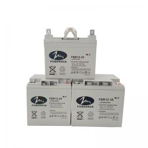 Quality 33A 24A 55A Energy Power Deep Cycle Lead Acid Battery 16kg 156mm Height for sale
