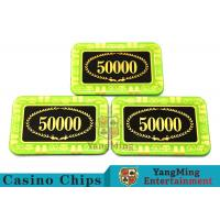 Quality Anti - Counterfeiting Crystal Poker Chips / Rectangular Poker Chips For Casino for sale