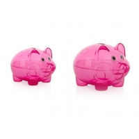 Quality CE PP Transparent Piggy Bank Custom Pattern Printing for sale