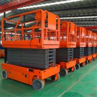 Buy cheap Smart Operation Scissor Lift Machine Foldable Guard Rail With Extension Platform from wholesalers
