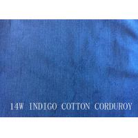 Quality 14W INDIGO COTTON CORDUROY FOR PANTS LIKE DEMIN FABRIC for sale