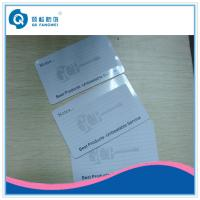 Quality Plastic Card Printing CR80 PVC Business Card With Signature Area / Signature Pannel for sale