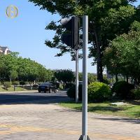 Quality 4.5M 6M I Type Traffic Light Pole , Camera Light Pole Installing At Main Road for sale