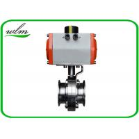 """Quality Hygienic Grade Sanitary Tri Clamp Butterfly Valve Compact Configuration , Large Size 1"""" - 8"""" for sale"""