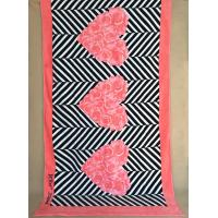 Quality Thick Pink Monogrammed Printed Beach Towels / Oversized Bath Towels For Honey Moon for sale