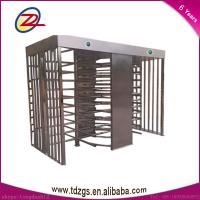 Quality Customized Stainless steel full height Turnstile gate with RFID Reader for sale
