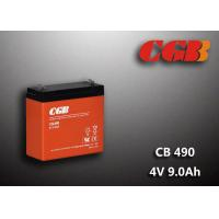 Quality 1.12KG Sealed Lead Acid Battery 4V 9Ah CB490 Series ABS Plastic V0 Battery for sale