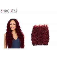 China 10-26 Inch Water Wave Braiding Human Hair / Red 99J Remy Water Wave Weave on sale