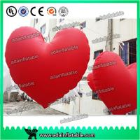 Quality Valentine's Day Decoration Red Inflatable Heart With LED Light For Club Hanging Decoration for sale